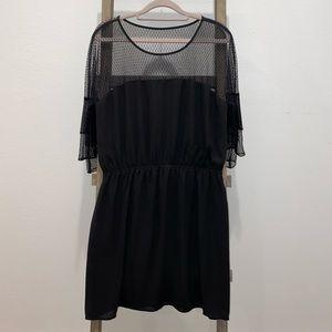 EXPRESS Black Mesh Dress